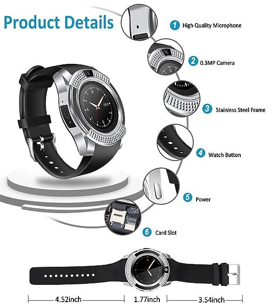 Reloj inteligente, reloj inteligente con Bluetooth, pantalla ...
