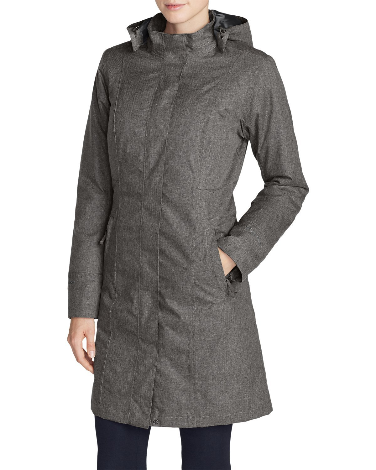 Eddie Bauer Women's Girl On The Go Insulated Trench Coat, Black M Regular by Eddie Bauer (Image #5)