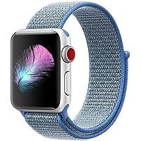 HILIMNY Cinturino per Apple Watch 38MM 42MM, Morbido Nylon Cinturini per iWatch Apple Serie 3, Serie 2, Serie 1, Nike+, Hermès, Edition