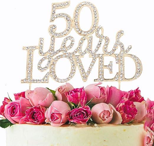 Amazon.com: Decoración para tarta de 50 años para 50 años de ...