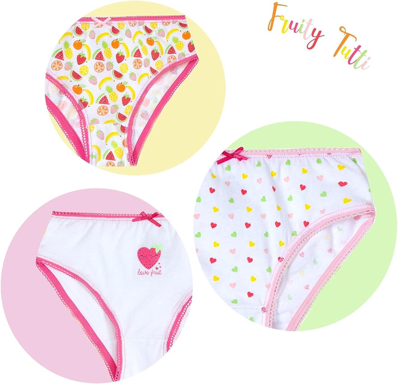 4Kidz Infant Girls Everyday Fun Printed Cotton Knickers
