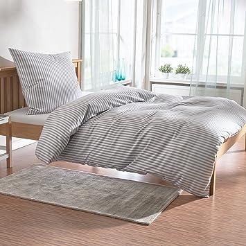 Janine Design Edelflanell Bettwäsche Chinchilla 78010 88 135x200 Cm