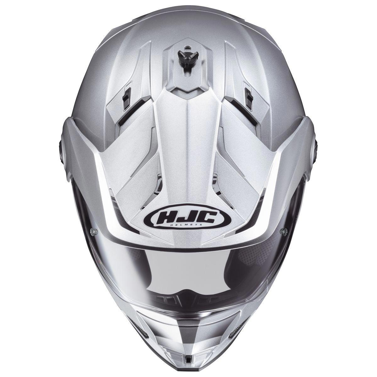 Silver, Large HJC Helmets Unisex-Adult Full-Face-Helmet-Style DS-X1 Metallic Helmet 510-574