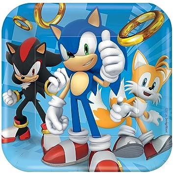 Vajilla, Sonic 18 cm plato cuadrado: Amazon.es: Juguetes y ...