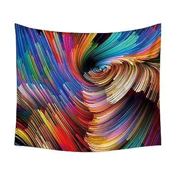 hanshi Multicolor pared Alfombra Modern Artista isch pared adornos de Polyster paño multiusos (Mantel pared toalla playa pared decoración decoración ...