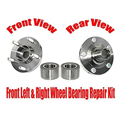 (2) New FRONT Wheel Bearing With Hub Kits Fits For Ford Fusion 06-12 & Milan 06-11: Automotive