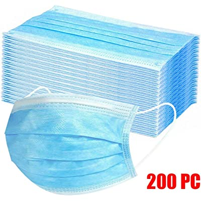 Protección 3 Capas Transpirables con Elástico para Los Oídos Pack 200 Unidades (Azul)