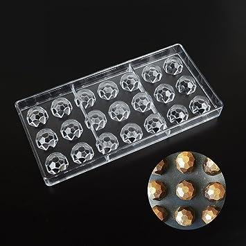 Molde para repostería de chocolate con forma de diamante, plástico transparente, policarbonato y policarbonato, hecho a mano, herramienta de decoración para ...