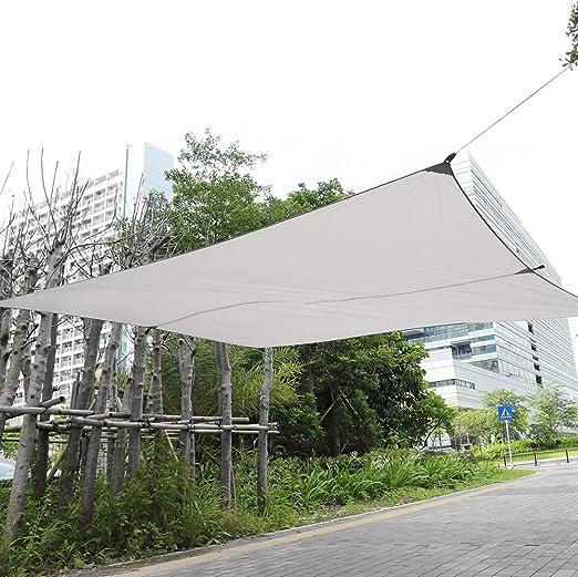 GOTOTOP Vela de Sombra Toldo de Rectangular Toldo Vela Parasol Patio de Jardín al Aire Libre 3 * 4m (Beige): Amazon.es: Jardín