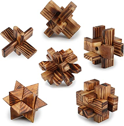 Lock Toy Wooden Puzzle Teasers Burr Puzzles Classic IQ Mind Brain Practical New