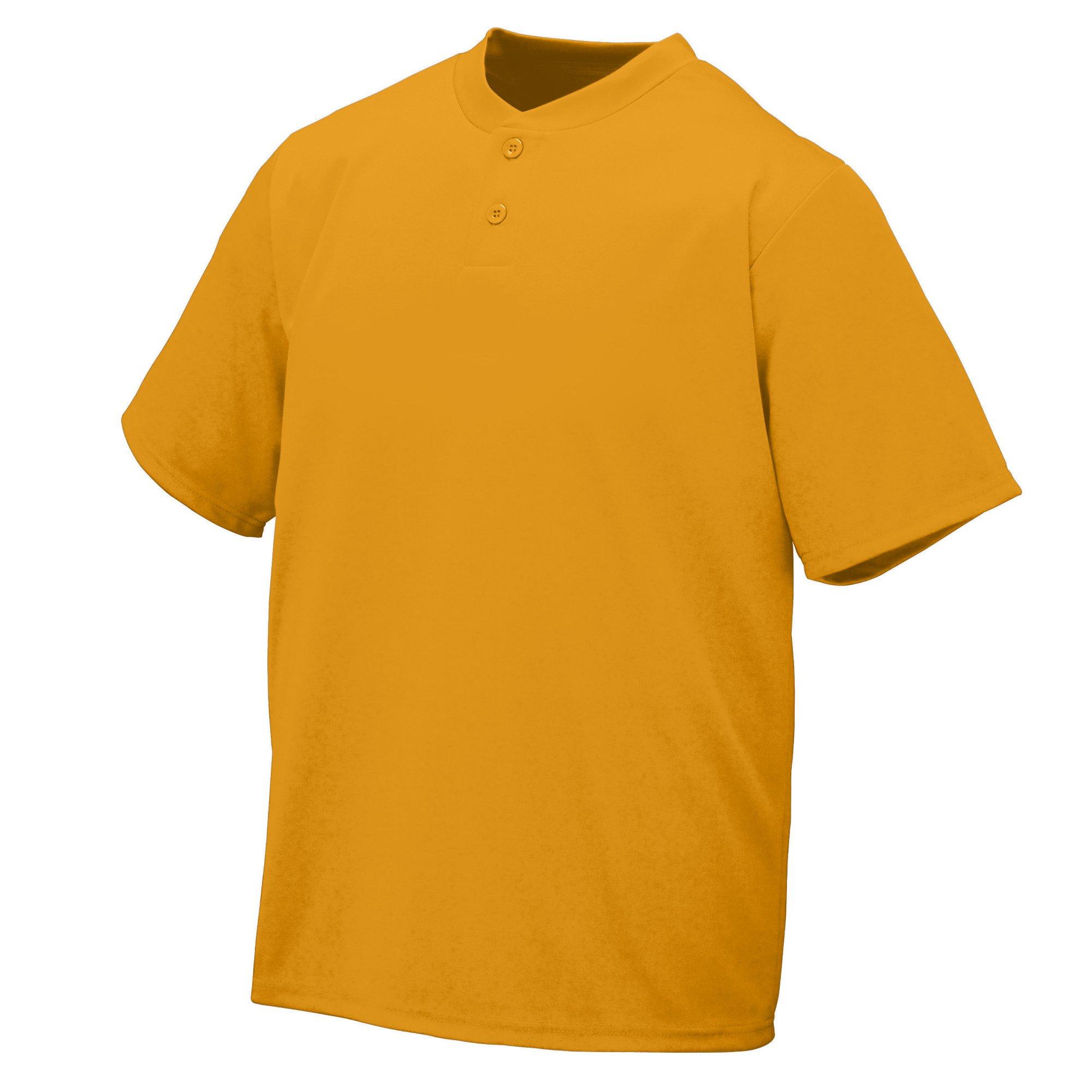 Augusta Sportswear Wicking Two-Button Jersey 2XL Gold by Augusta Sportswear