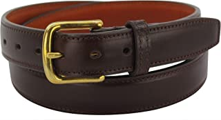 """product image for Men's Italian Leather Belt –Single Stitched Dual Layered -1.25"""" Wide Made in USA"""