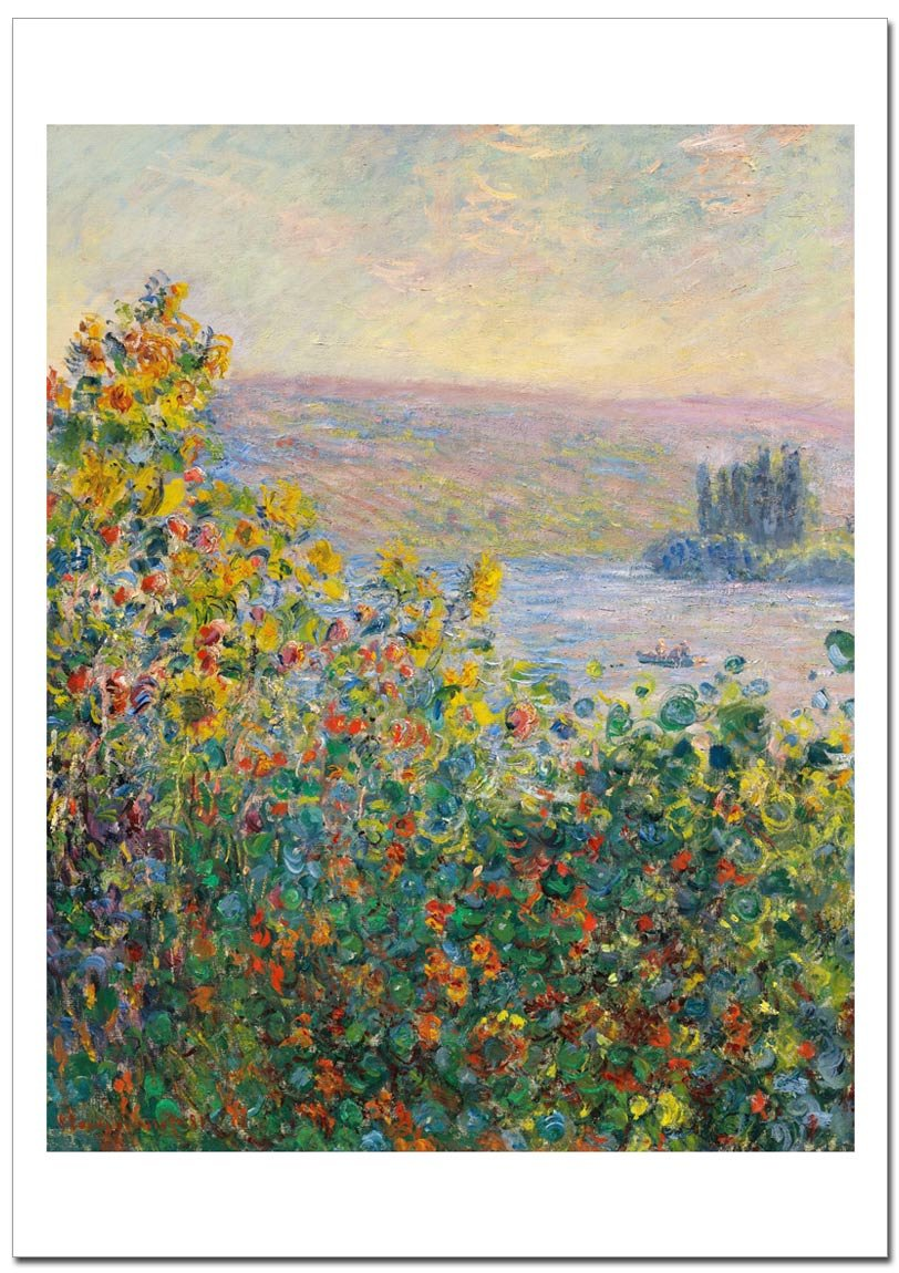 世界の名画 モネ ヴェトゥイユの花壇 Flower Beds at Vétheuil ジークレー技法 高級ポスター (B1/728ミリ×1030ミリ) B0733C3K1MB1/728ミリ×1030ミリ