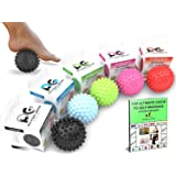 Physix Gear Massage Balls - Spiky or Lacrosse Ball Roller Set for Plantar Fasciitis, Trigger Points Neck & Back Pain…
