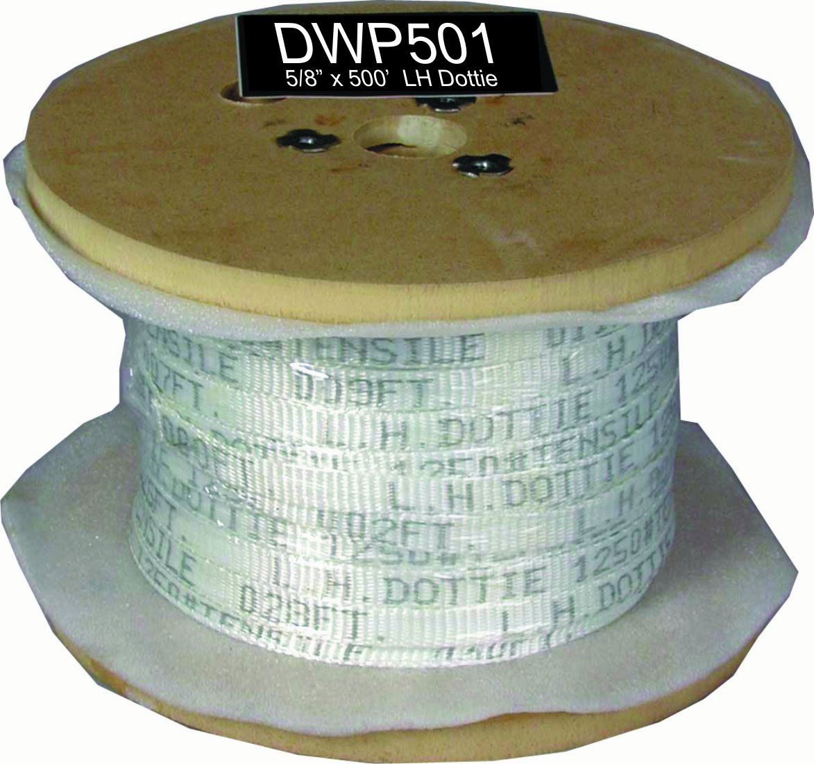 Dottie DWP501 Pull Line Measuring Tape L.H 5//8-Inch Diameter by 500-Feet Length Graybar
