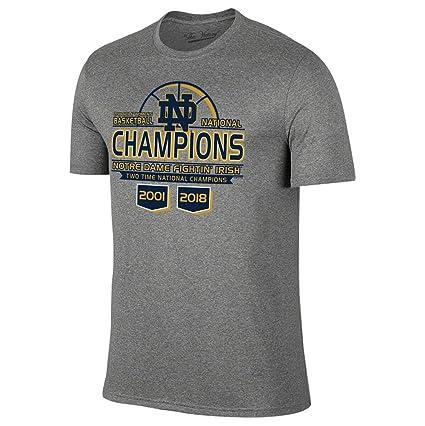 3eb0661314a Elite Fan Shop Notre Dame Irish National Champs T Shirt Womens Basketball  2018 Gray - S