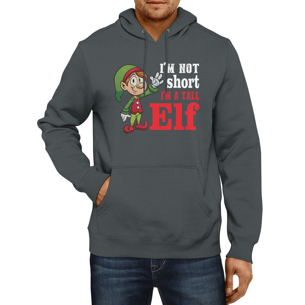 z-candy I Am Not Short I Am A Tall Elf Funny Christmas Hoodie Gifts On Christmas Holiday