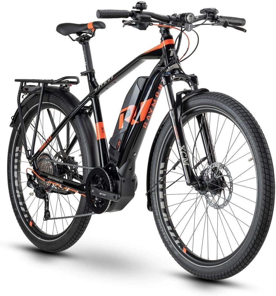 Rayman Tourray E 6.0 Pedelec 2020 - Bicicleta eléctrica, color negro y rojo