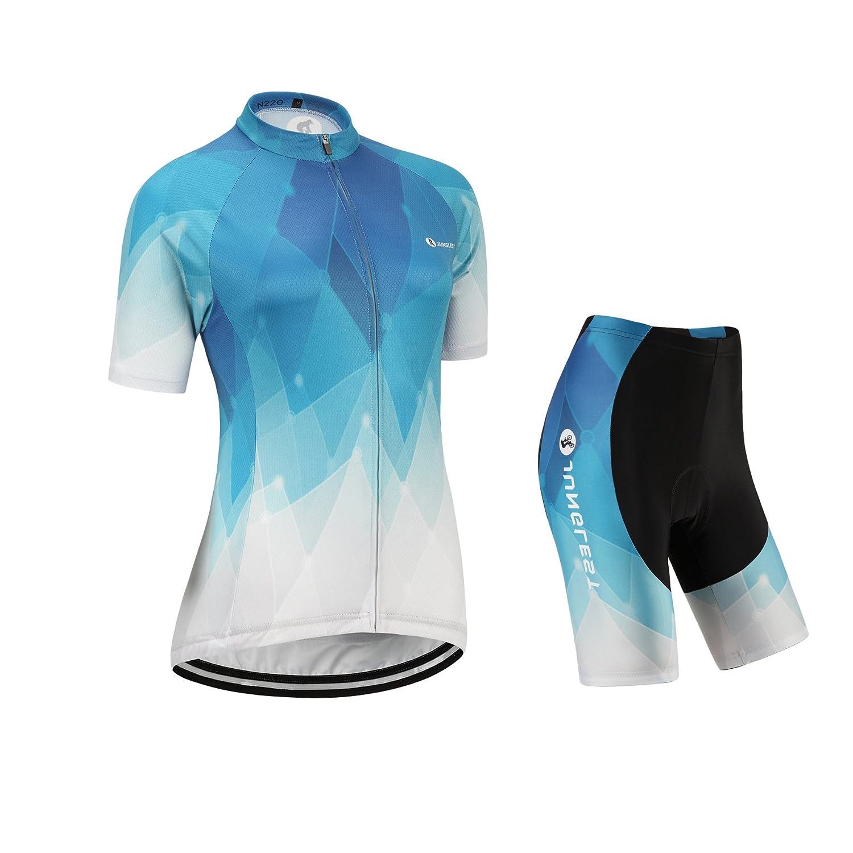(opción:tirante,3D 2.8cm Cojín)Moda ropa maillot de ciclismo Jerseys para los mujer manga corta traje Pants o strap chaleco rendimi jnl