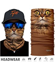 TEFITI 3D Animal Tube Face Masks Multifunctional Headwear,Outdoor Sports,Casual Headbands, Wristband,Bandana Balaclavas Stretchable Neck Gaiter for Hiking,Biking Running Hunting