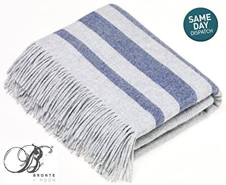 Bronte Seville Grey Blue Pure New Angora Wool Blanket Or Throw By Cool Angora Throw Blanket