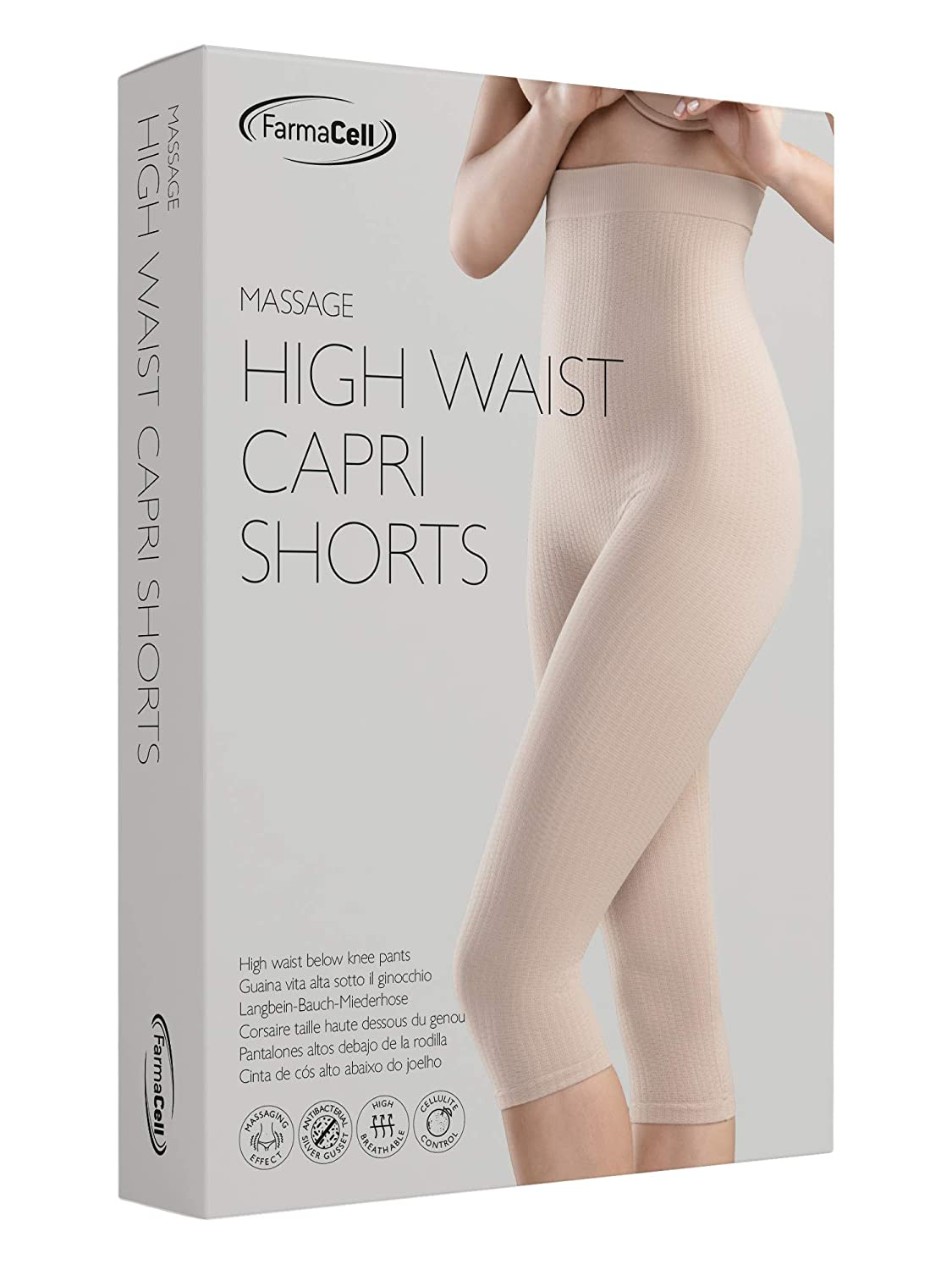 0763de1947 FarmaCell 123 Women s high-Waisted Anti-Cellulite micromassage Capri  Leggings at Amazon Women s Clothing store