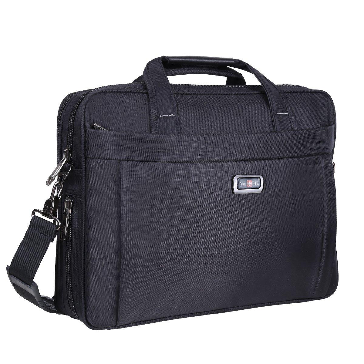 Briefcase Bag, 15.6 Inch Laptop Bag, Stylish Nylon Multi-functional Organizer Messenger Shoulder Bags for Men Women Fit for 15