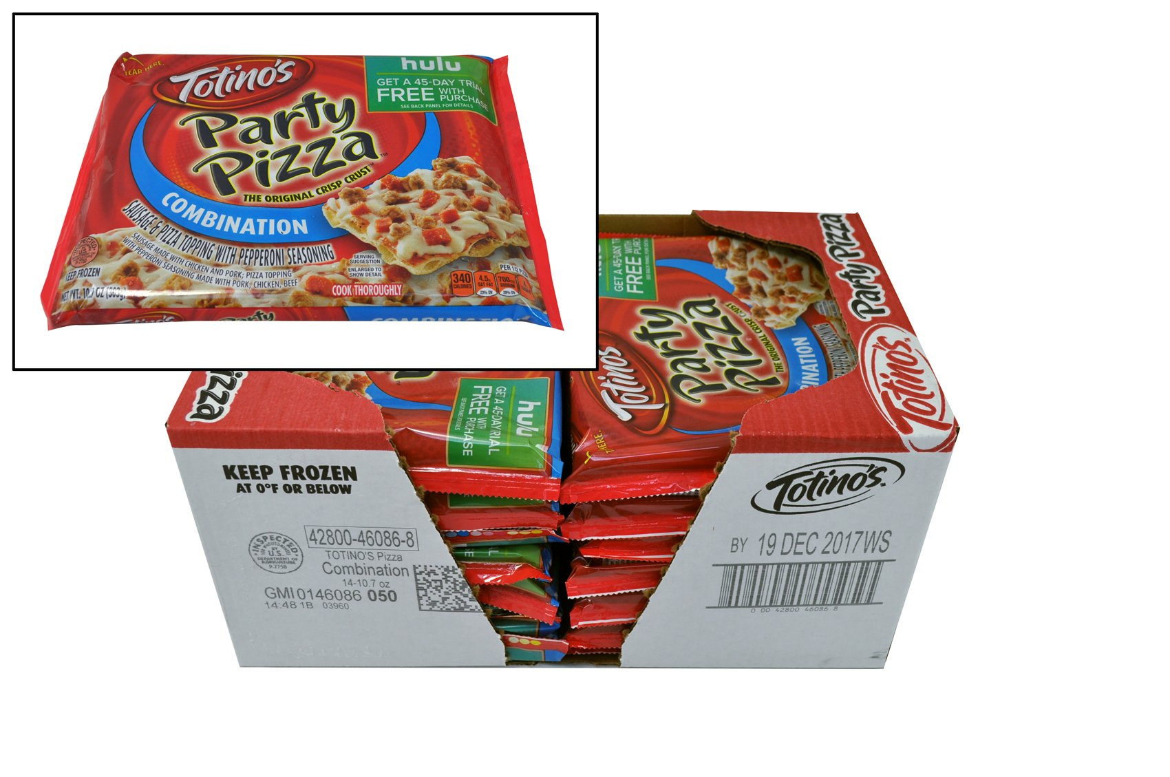 Totino's Combination Party Pizza, 10.7 oz., (14 count)