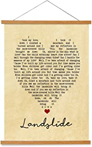 kasader Landslide Heart Unique Quote Personalized Song Gift Lyric Retro Wall Art Gift Print Canvas Wood Reel Home Decor 18x12in