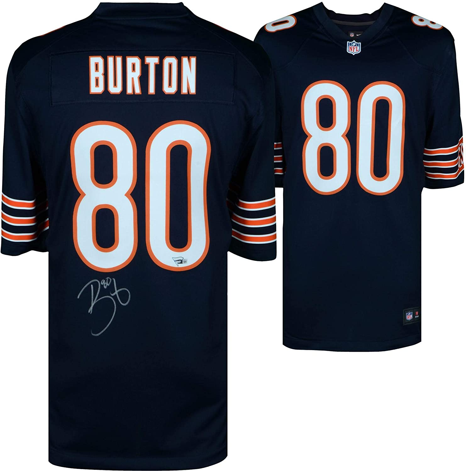 super popular 10b8d ace00 Trey Burton Chicago Bears Autographed Nike Blue Game Jersey ...