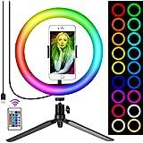 Queta LED ring lampa RGB foto ljus Sefie ring ljus blixt (typ A)
