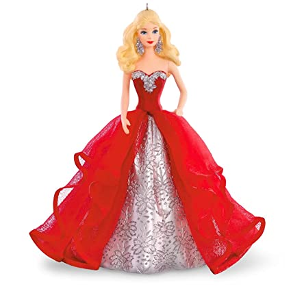 Barbie Christmas Ornament.Hallmark Compatible Barbie Keepsake Ornament 2015 Holiday Collection