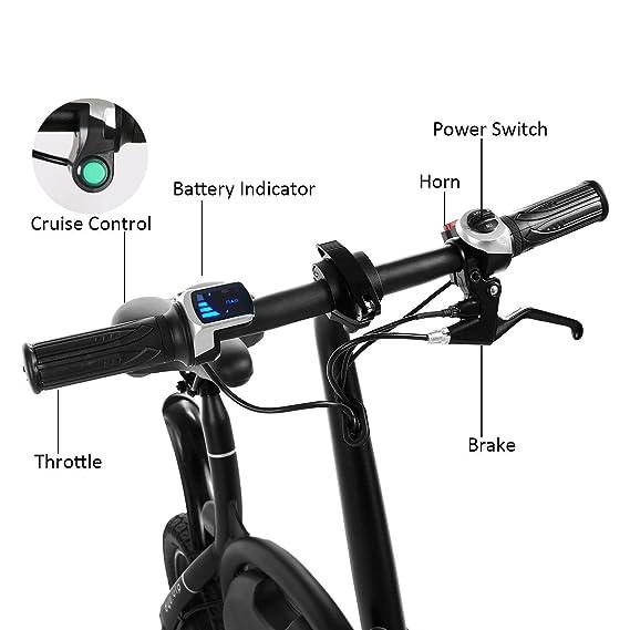 cooshional Bicicleta Eléctrica Plegable Paseo 350W 36V Alcance 20km E-bike Control Bluetooth: Amazon.es: Ropa y accesorios