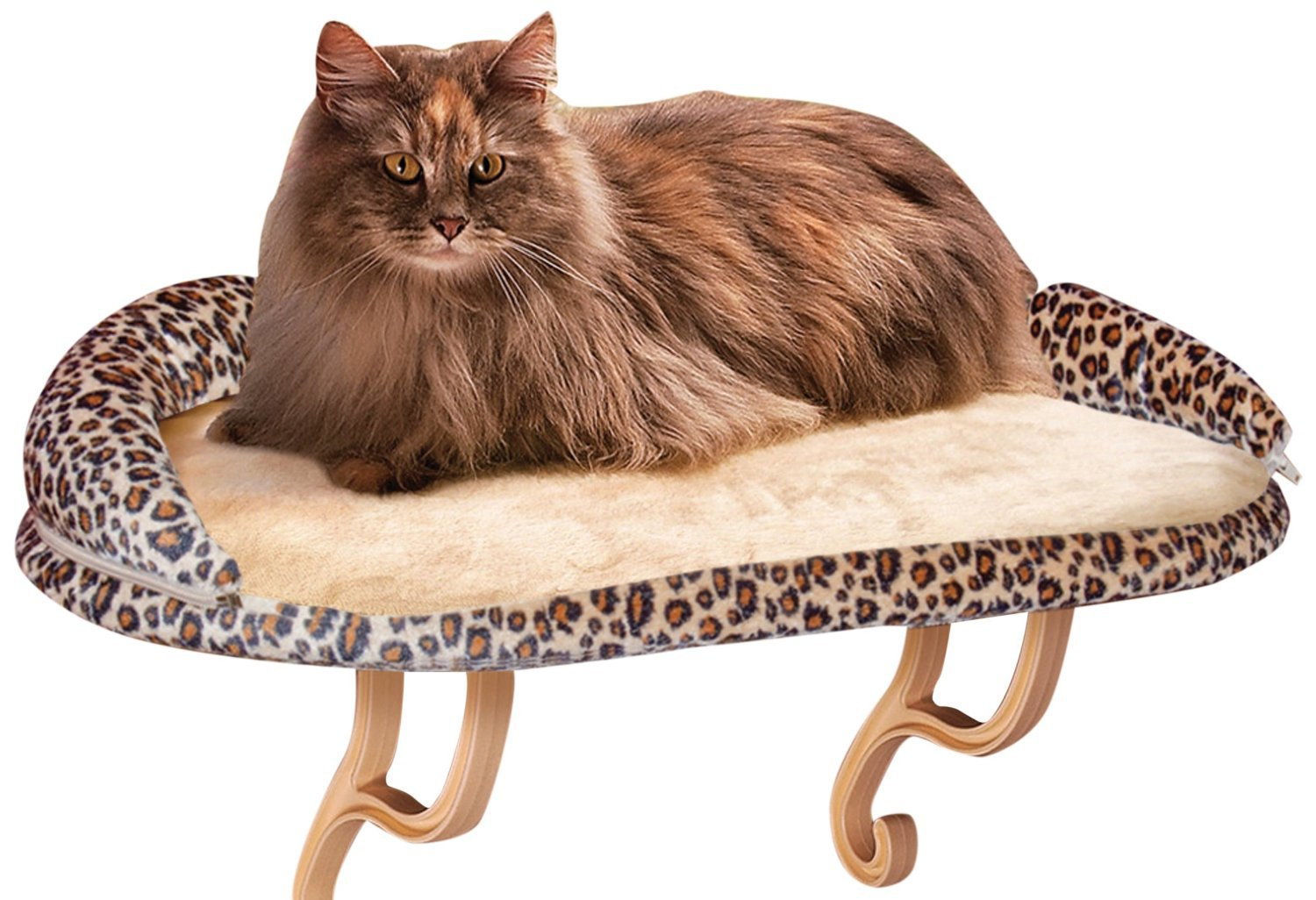 K&H Pet Products Kitty Sill Deluxe with Bolster Leopard 14  x 24