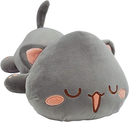 Giant Shark Plush, Amazon Com Cute Kitten Plush Toy Stuffed Animal Pet Kitty Soft Anime Cat Plush Pillow For Kids Gray B 12 Toys Games