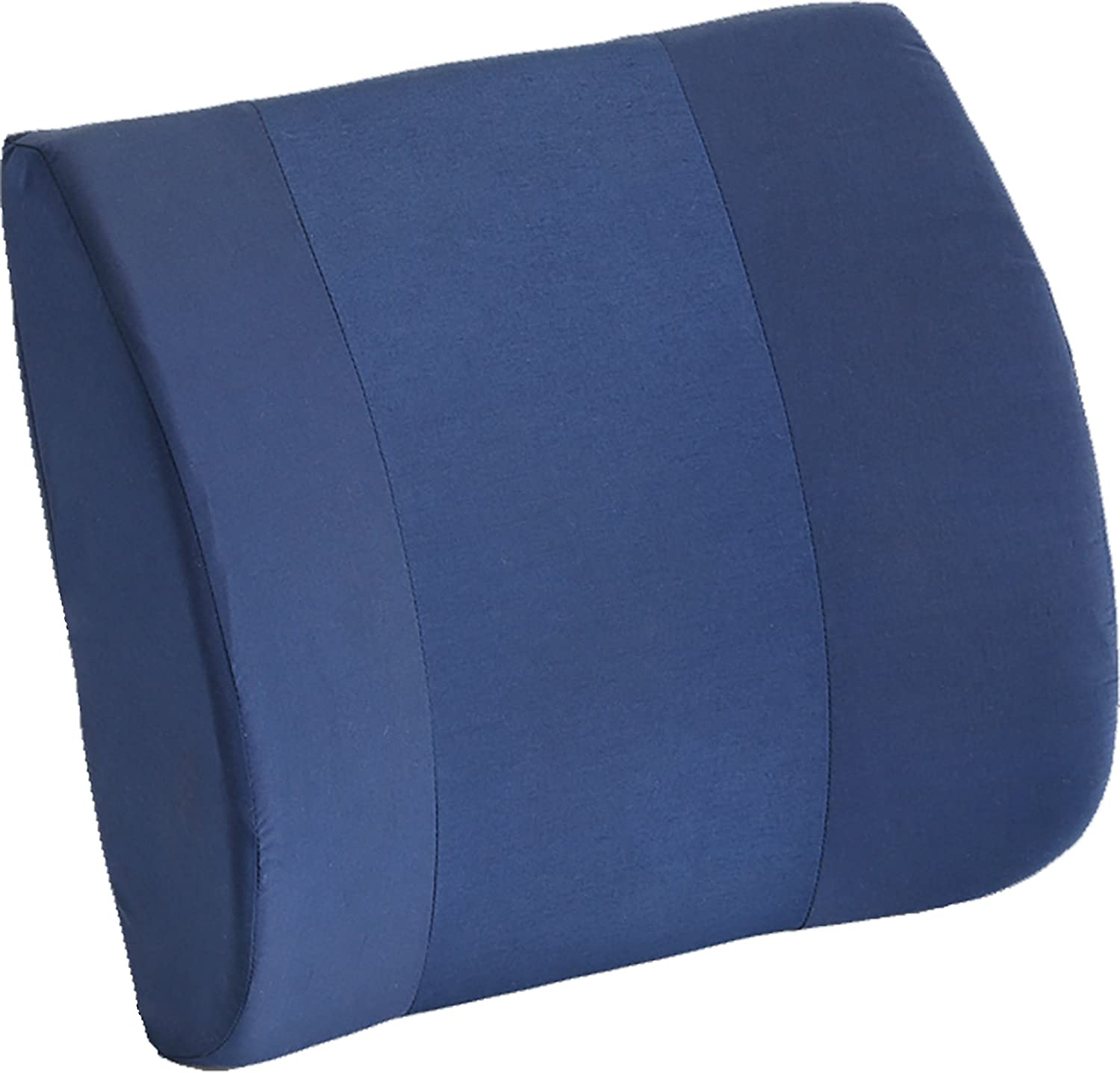 NOVA Lumbar Back Cushion, Contoured Back Support Pillow for Office Chair and Car, Removable & Washable Cover, Color: Navy Blue