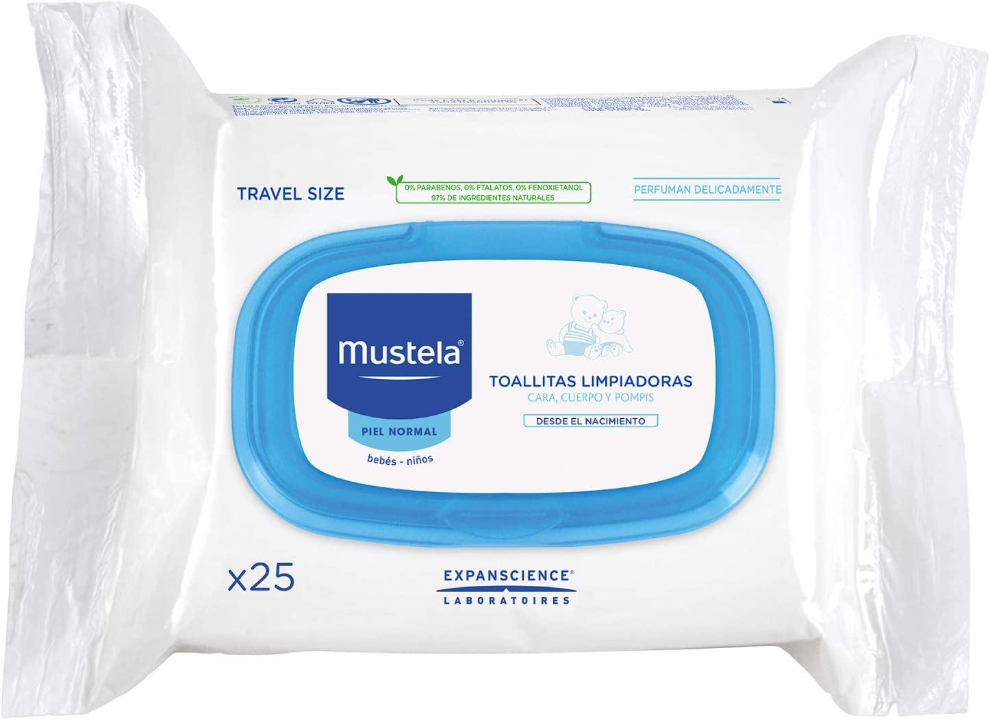 Mustela 229583 - Mustela Toallitas Facial Bebe 25 Unidades: Amazon.es: Bebé