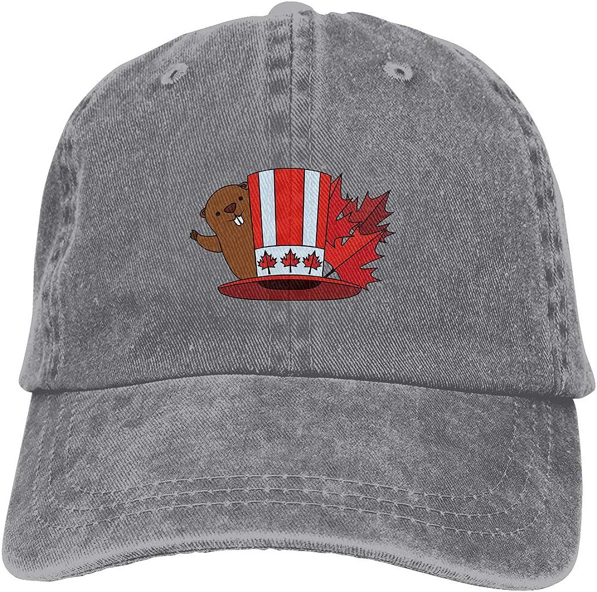 Men Women Canadian Beaver Vintage Washed Dad Hat Funny Adjustable Baseball Cap