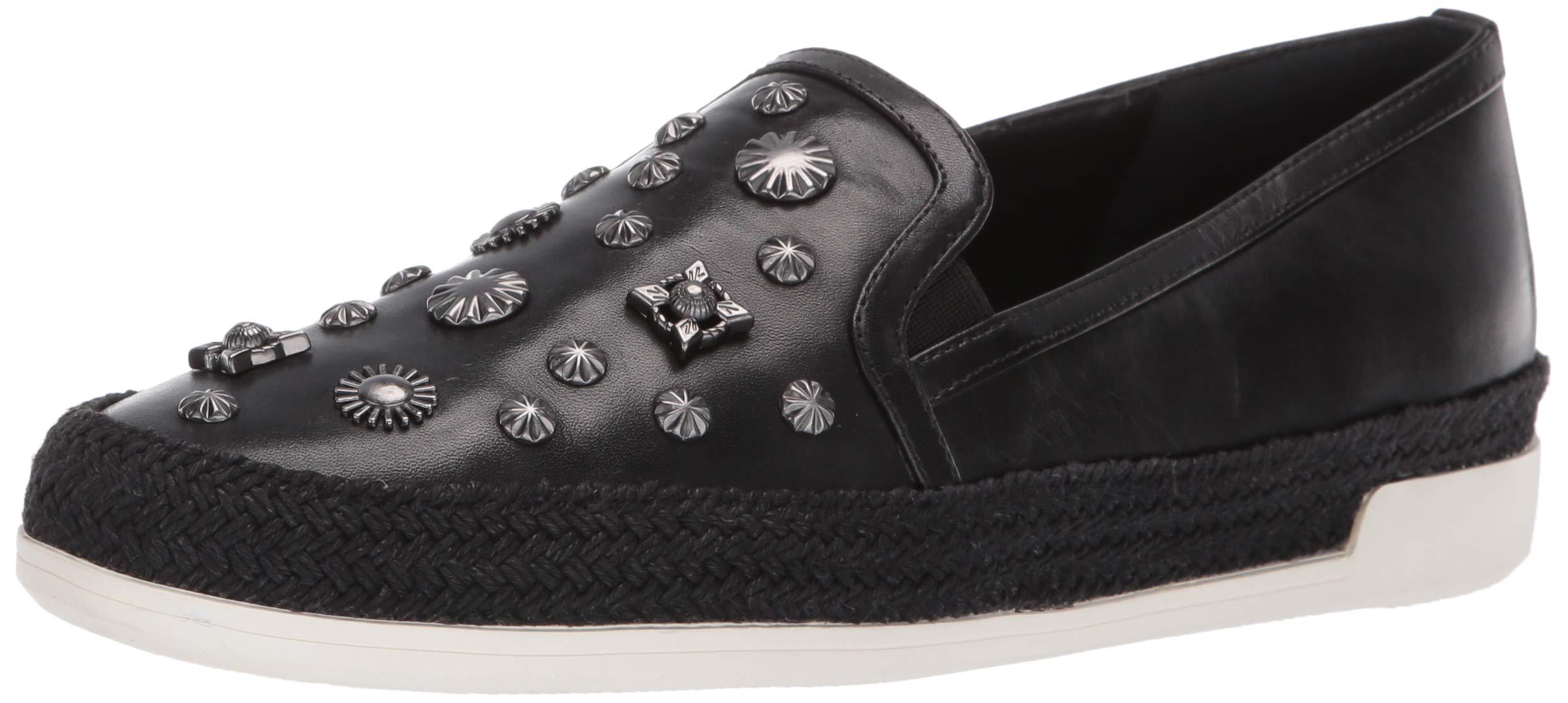 Donald J Pliner Women's PAMELASP01 Loafer Flat Black 7 B US by Donald J Pliner