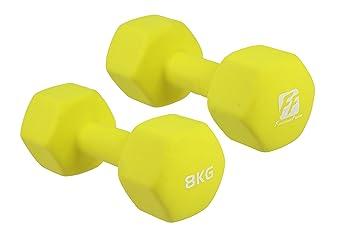 functionalfitness Neo Hex mancuernas par - 2 x 8 kg: Amazon.es: Deportes y aire libre