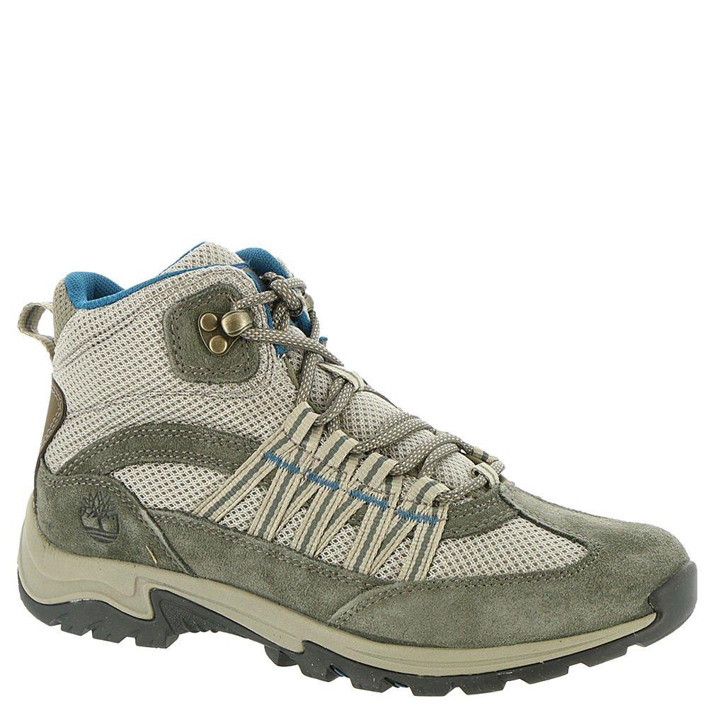 Timberland A1NOV Women's Mt. Maddsen Lite Mid Hiking Boots, Grey Full-Grain - 8 M
