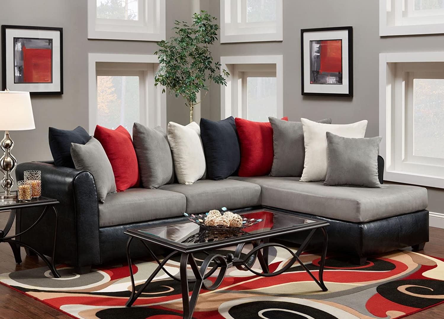 Amazoncom Chelsea Home Furniture Corianne 2 Piece Sectional