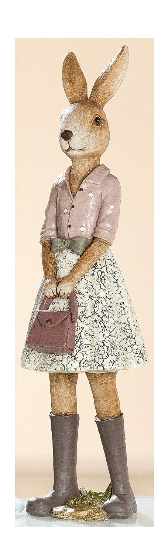 Dekojohnson Dekofigur Osterhase Hasenschülerin Polyresin Natur Kleid Kleid Kleid Kaninchen Osterdekoration Gartenfigur 27cm Hoch B07BJ8RW28 Figuren 9d01be