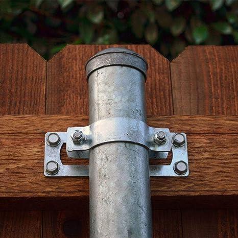 OZCO 50140 WAP-OZ 2-3//8-inch Steel To Wood 90-degree Fence Bracket, 1 per Pack