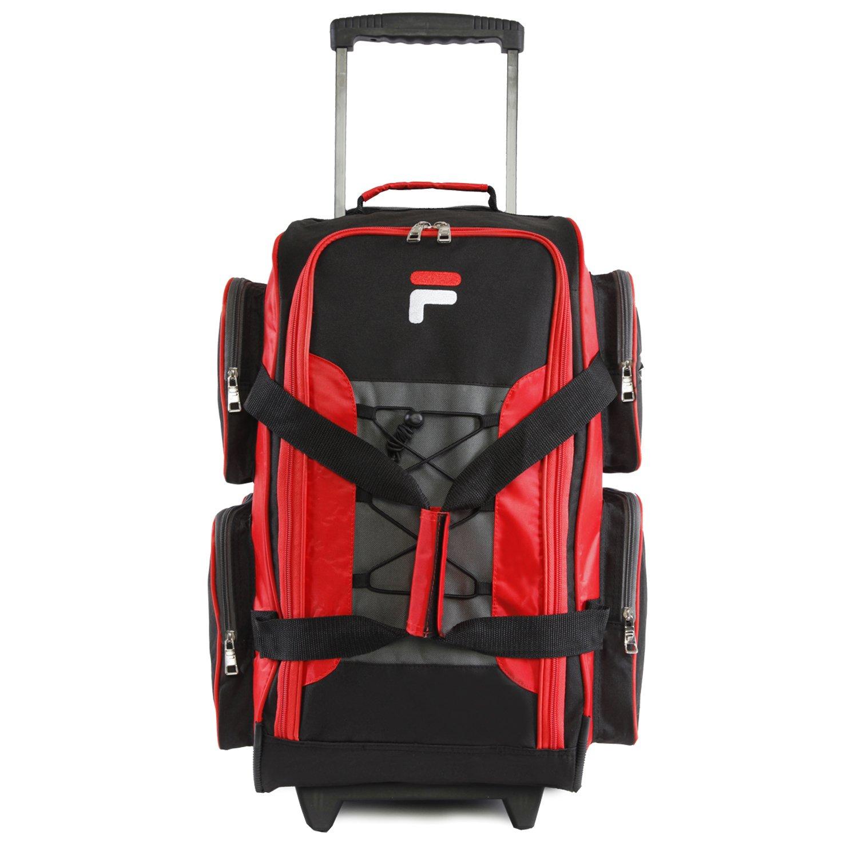 Fila 22 Lightweight Carry On Rolling Duffel Bag Black One Size Fila Luggage FL-LUD-522-BK