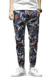 QZH.DUAO Mens Dog Pattern Casual Pants