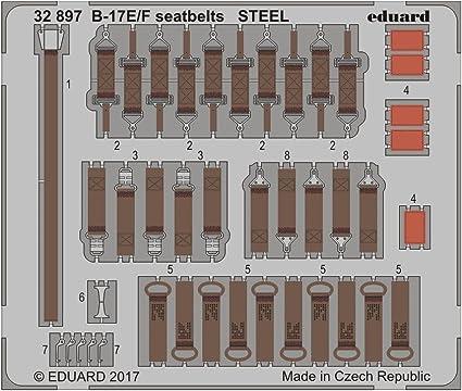1//32 Eduard B-17E// F seatbelts STEEL