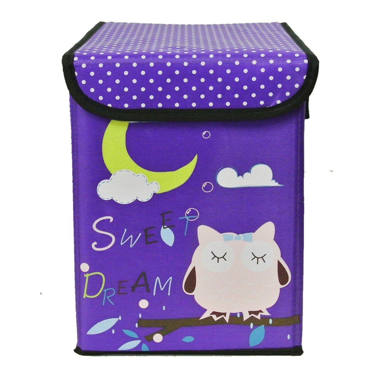 Wrapables Children's Owl Foldable Storage Bin for Clothes and Toys, Hot Pink Wrapables® A67301c