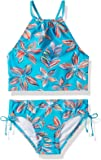 Kanu Surf Girls' Daisy Beach Sport Halter Tankini 2-Piece Swimsuit