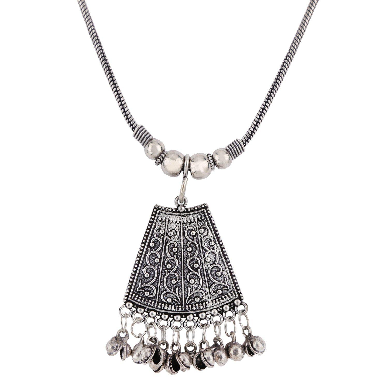 Efulgenz Indian Vintage Retro Ethnic Gypsy Oxidized Tone Boho Necklace Jewellery for Girls and Women